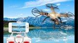 Syma X8HW FPV quadcopter goud