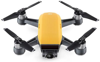 DJI Spark geel quadcopter