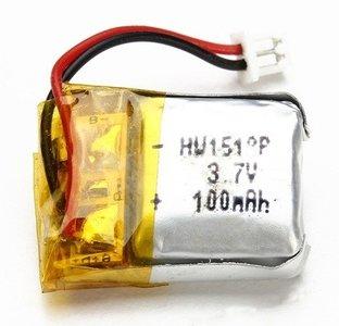productfoto van de WLtoys batterij 3,7V 100mAh voor V646 en V676